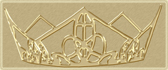 embossed gold crown logo for The King's High Way Ministries